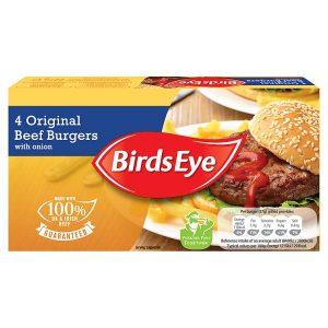 Birds Eye 4 Original Beef Burgers with Onion