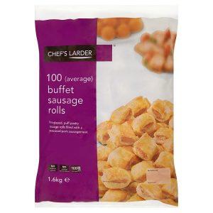 Chef's Larder 100 Buffet Sausage Rolls 1.6kg