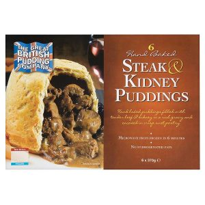 The Great British Pudding Company Hand Baked Steak & Kidney Puddings 6 x 370g