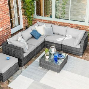 Chelsea Corner Sofa Set - Grey