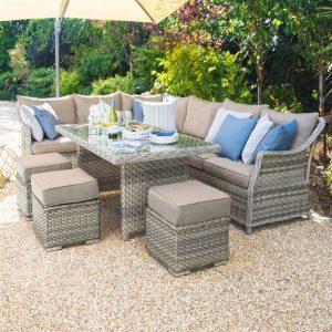 Oyster - Rattan Corner Sofa Dining Set