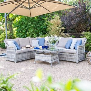 Oyster - Rattan Corner Sofa Set