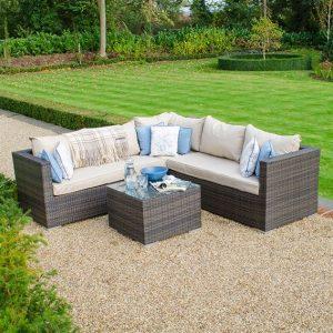 Lyon Corner Sofa Set - Brown
