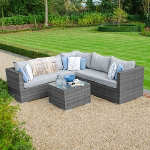 Lyon Corner Sofa Set - Grey
