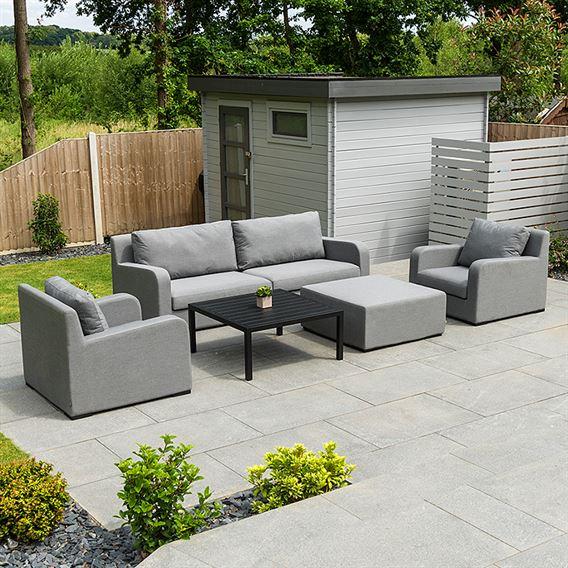 Riva 2 Seat Sofa Set - Flanelle