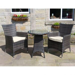 Amelia 2 Seat Bistro Set - Brown