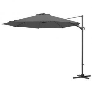 3m Round Provance Cantilever Parasol - Grey