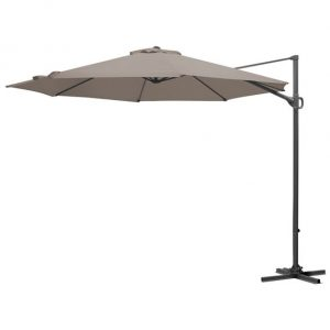 3m Round Provance Cantilever Parasol - Taupe