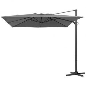 2.4m Square Provance Cantilever Parasol - Grey