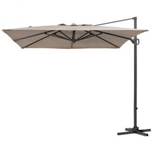 2.4m Square Provance Cantilever Parasol - Taupe