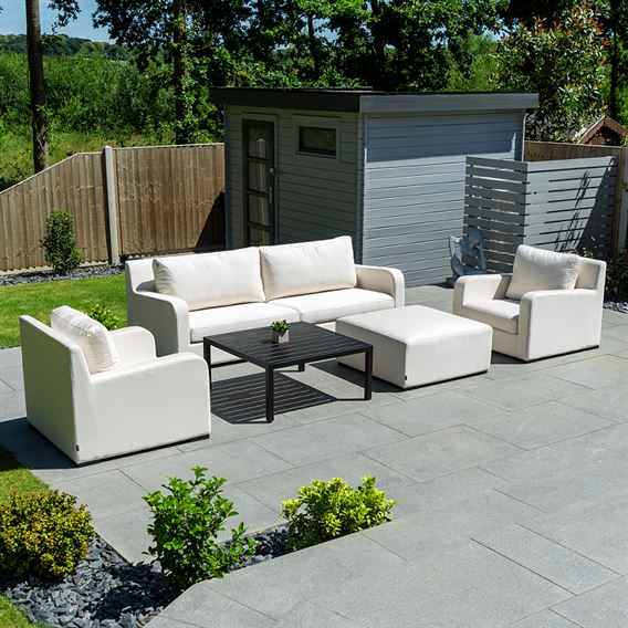 Riva 2 Seat Sofa Set - Canvas