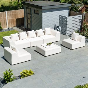 Buddha Sofa Set with Footstool - Canvas