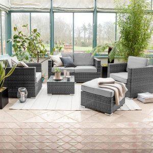Lyon 2 Seat Sofa Set - Grey