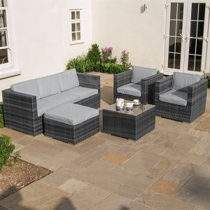 Lyon 3 Seat Sofa Set - Grey