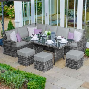 Cambridge Corner Dining Set (Left) - Grey
