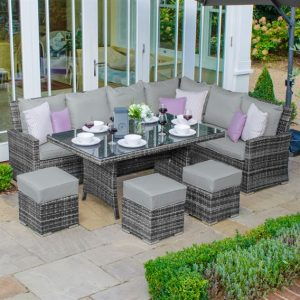 Cambridge Corner Dining Set (Right) - Grey