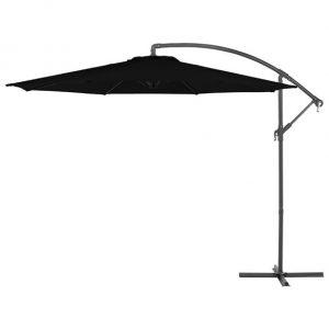 3m Round Basic Cantilever Parasol - Black