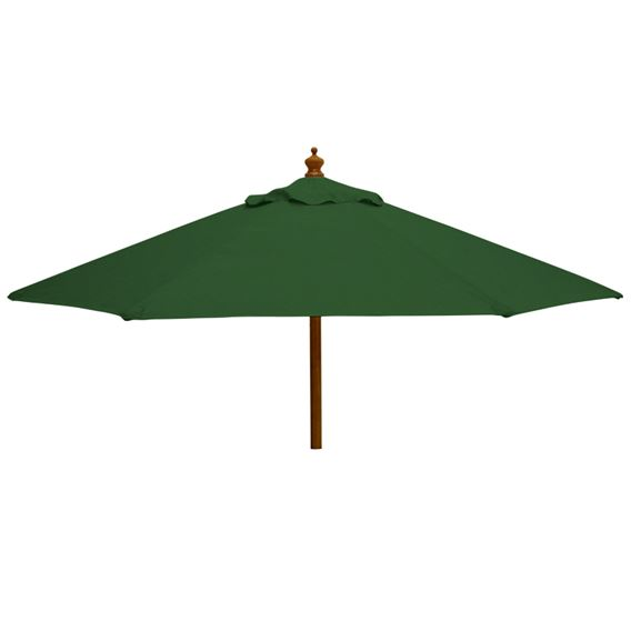 2.5m Round Wood Pulley Parasol - Green