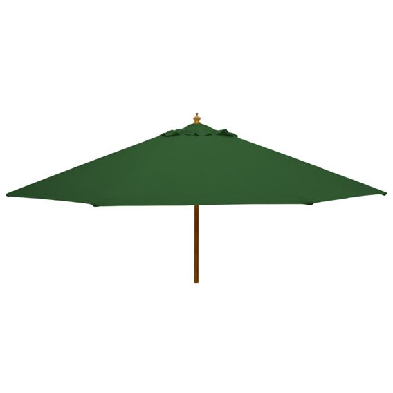 3m Round Wood Pulley Parasol - Green