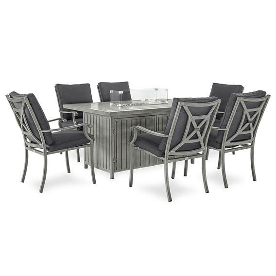 Fireglow 6 Seat Dining Set - 1.5m x 1m Rec