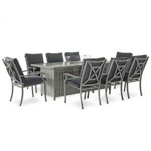Fireglow 8 Seat Dining Set - 2m x 1m Rec