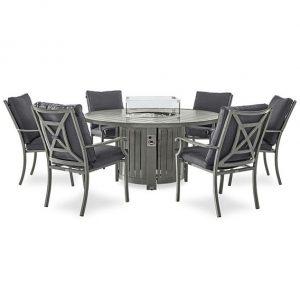 Fireglow 6 Seat Dining Set - 1.5m Round