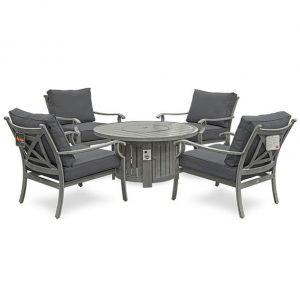 Fireglow 4 Seat Lounge Set - 1.2m Round