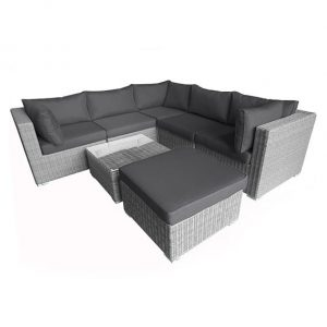 Nova Heritage Chelsea Corner Sofa Set - White Wash