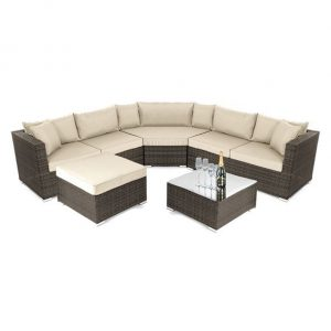 Nova Hampton Corner Sofa Set - Brown
