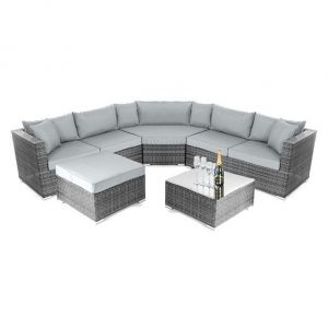 Nova Hampton Corner Sofa Set - Grey