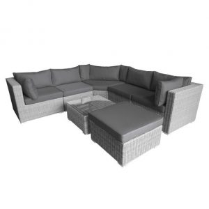 Nova Heritage Hampton Corner Sofa Set - White Wash