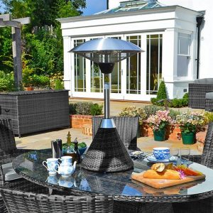 Nova 2100w Rattan Table Top Patio Heater - Grey