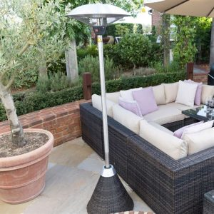 Nova 2100w Rattan Free Standing Patio Heater - Brown