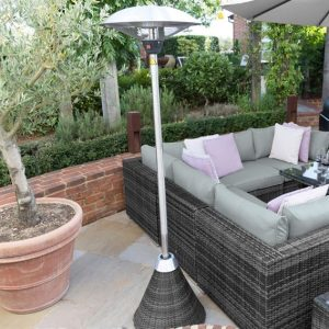 Nova 2100w Rattan Free Standing Patio Heater - Grey