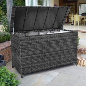 Rattan Storage Box (Large) - Grey