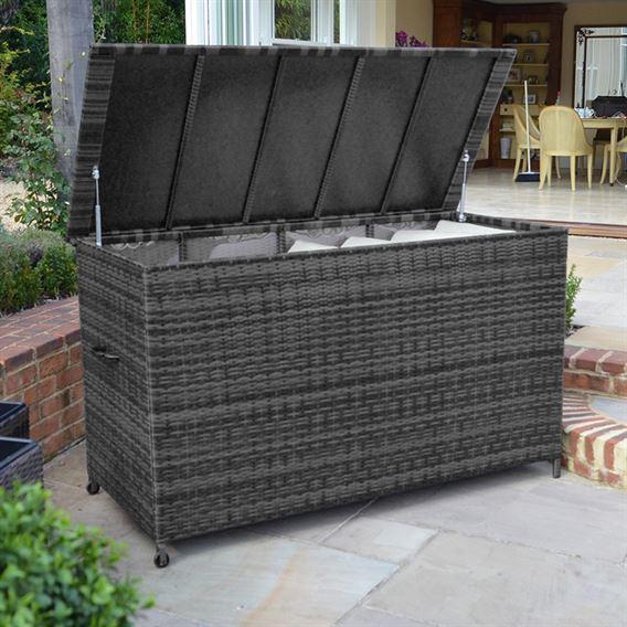 Rattan Storage Box (Large) - Grey