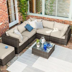Chelsea Corner Sofa Set Brown