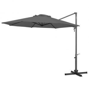 3m Round Ascot Cantilever Parasol - Grey