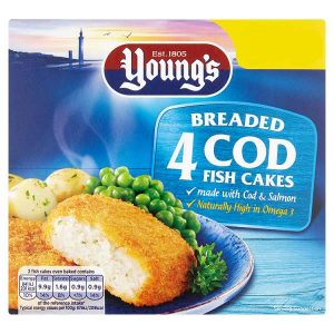 Young's 4 Breaded Cod Fish Cakes