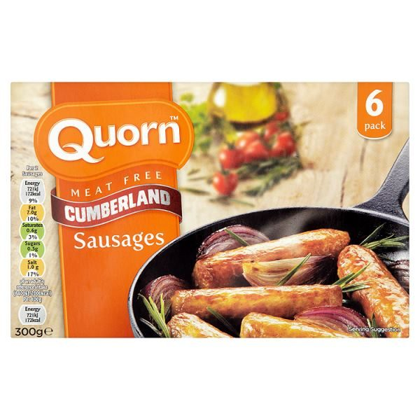 Quorn Meat Free 6 Cumberland Sausages