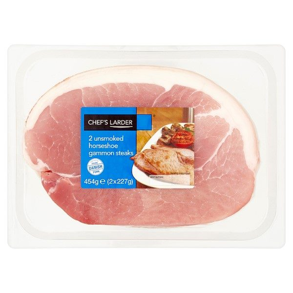 Chef's Larder 2 Unsmoked Horseshoe Gammon Steaks