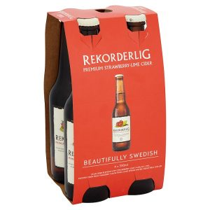 Rekorderlig Premium Strawberry-Lime Cider (bottles)