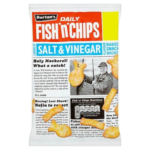Burton's Fish 'n' Chips Salt & Vinegar