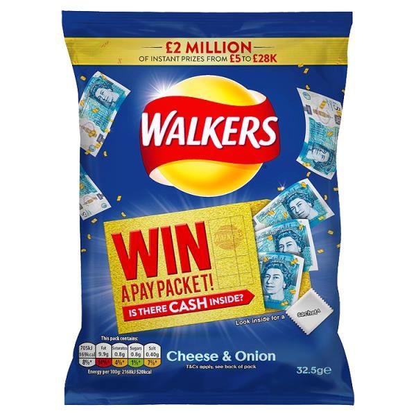 Walkers Cheese & Onion Crisps
