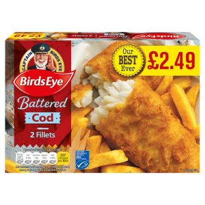 Birds Eye 2 Battered Cod Fillets