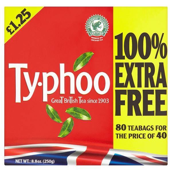 Typhoo Teabags (80 bags)